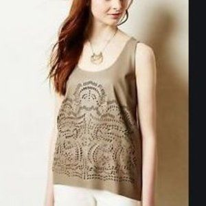 Anthropologie Sunday in Brooklyn Embroidered Tank